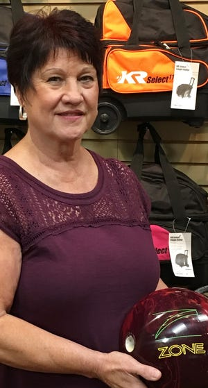 Bev Cormani tossed a total of 20 strikes during a 605 series that set the scoring pace for women bowlers in Mesquite last week, including the week's highest game, a 246 that included a seven-bagger.