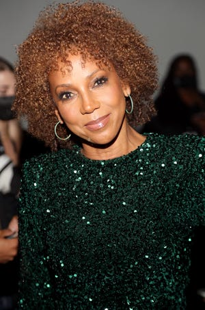 Holly Robinson Peete attends Sergio Hudson SS22 during New York Fashion Week on Sept. 9, 2021.