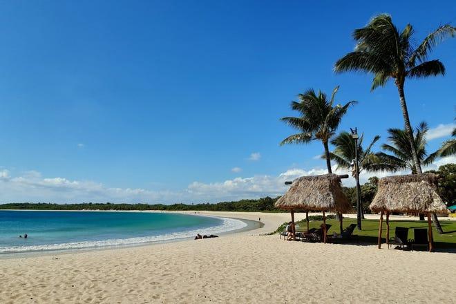 A beach at a resort at Natadola Bay in Fiji is seen in November 2019.