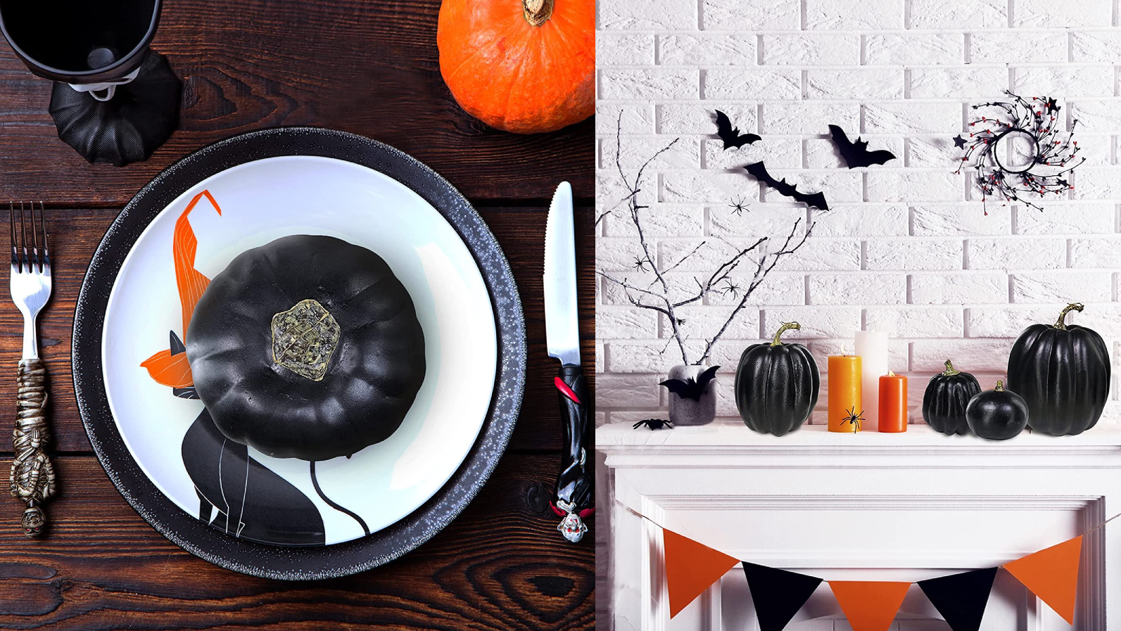 There are so many ways to decorate with these classy pumpkins.