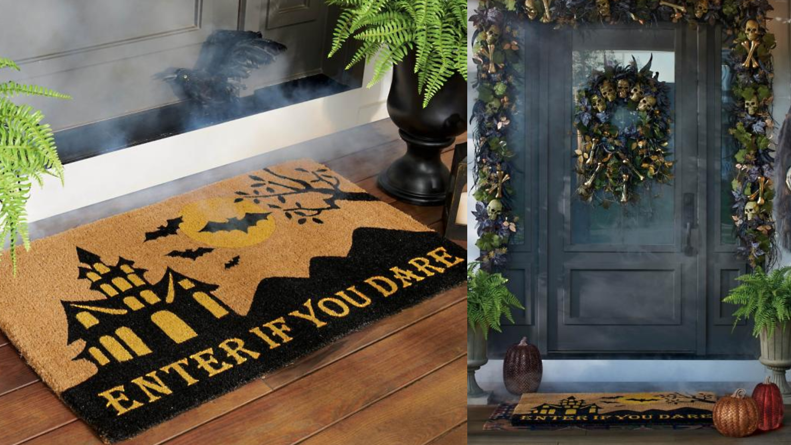 Swap out your regular welcome mat for this Halloween-themed one.