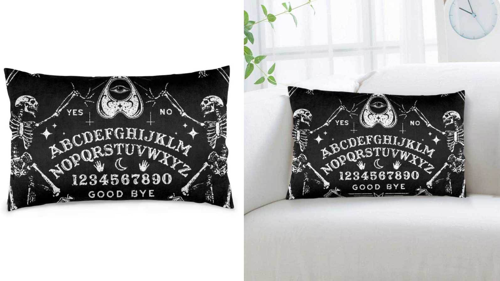 This pillow is almost too scary to sit on.