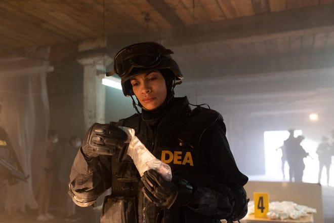 """DEA agent Bridget Meyer (Rosario Dawson) in """"Dopesick."""""""