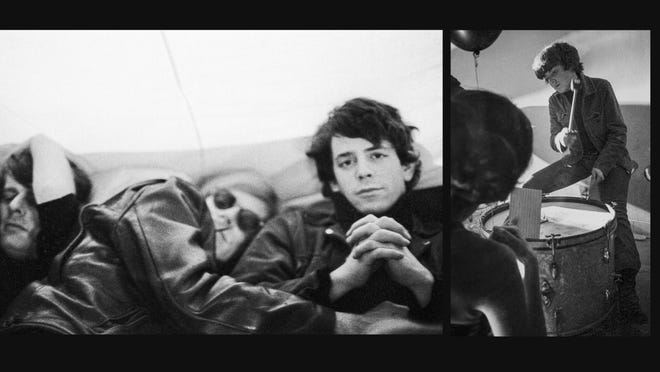 Paul Morrissi, from left, from Andy Warhol, Lu Reed and Mo Taker, from the archive photos of the Velvet Underground movie.