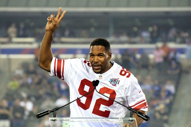 Former New York Giants defensive lineman Michael Strahan will be inducted into the Texas Sports Hall of Fame next spring as part of its 2022 class.