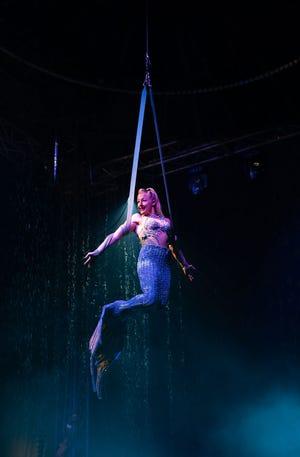 Morgaine Rosenthal as the mermaid.