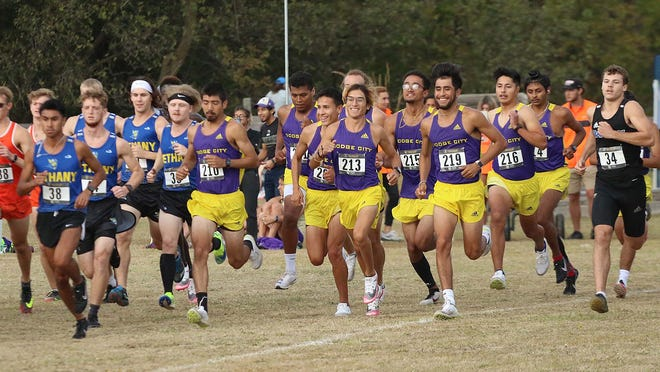 Dodge City CC men's cross country team competes at the Fort Hays State Tiger Open and places 14th as a team.