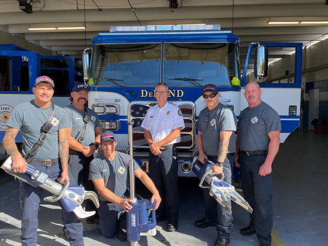 """The DeLand Fire Department recently acquired a $33,000 grant from Firehouse Subs for life-saving equipment known as the """"jaws of life."""" The new equipment  will help firefighters get to trapped auto crash victims faster, Fire Chief Todd Allen said."""