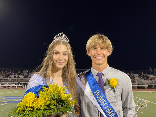 Lauren Pool and Gavin Davidson were crowned Greencastle-Antrim High School homecoming queen and king for 2021 during half-time of the football game on Oct. 8.