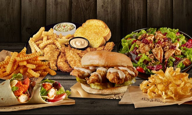 """Huey Magoo's, known for freshly made grilled, hand-breaded or """"sauced"""" premium chicken tenders, is now open in Jacksonville Beach, its first restaurant in Northeast Florida."""