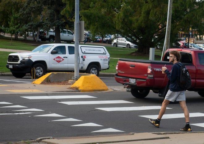 Crosswalk at University drive and East Main.