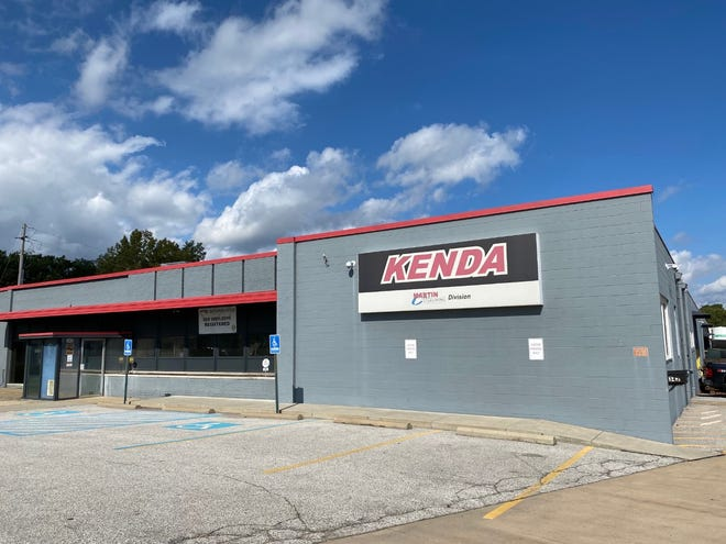 Kenda Tire plans to move from this building in Tallmadge to a new structure in in Brimfield's Maplecrest Industrial Park. Portage County Commissioners approved a tax abatement for its new building.