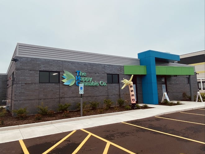 The Happy Cannabis Co., 4120 N. Bell School Road in Loves Park, held its grand opening on Tuesday, Oct. 12, 2021.