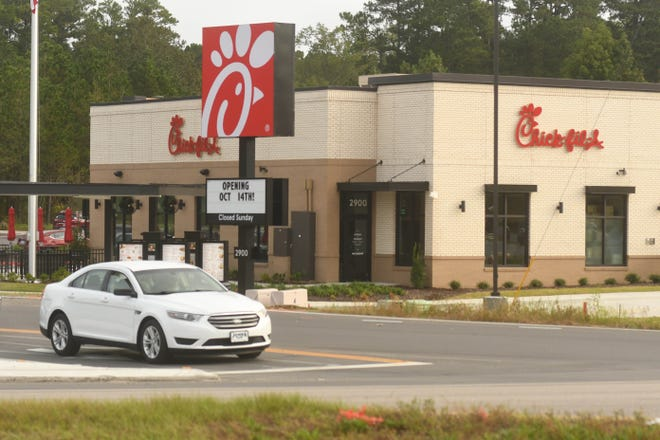 Chick-fil-A Shallotte will officially open for business this Thursday, Oct. 14, 2021. [KEN BLEVINS/STARNEWS]