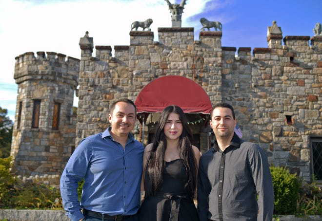 From left, Jose Flores and his wife, Suhaily Quiñones, and Suhaily's brother, Carlos Quiñones. The family is opening a Spanish tapas restaurant called Castle Cantina at the former Castle Restaurant in Leicester, opening this winter.