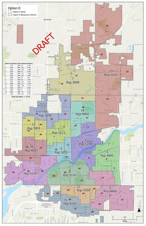 Option D is the latest version of Appleton's newly redrawn aldermanic districts.