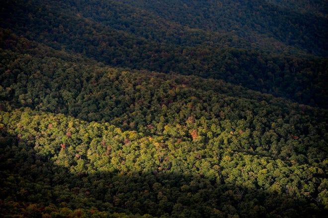 Views along the Blue Ridge Parkway October 11, 2021.
