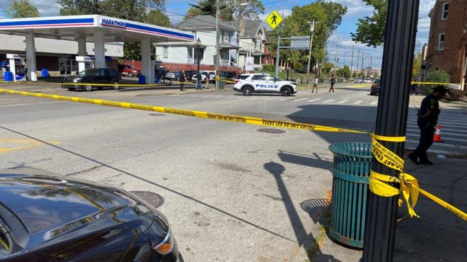 Police tape was blocking off a section of Montgomery Road as officers investigated a shooting Tuesday afternoon.