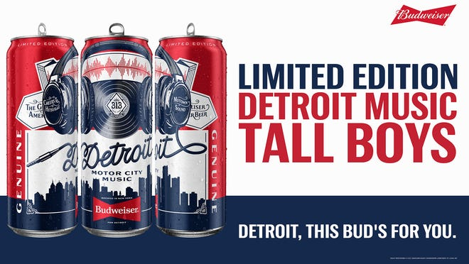 The music of Detroit legends is brewed into Budweiser's new limited edition Detroit Music Tall Boys.Brewed in tanks surrounded by speakers blasting the music of either The Temptations or Alice Cooper, the beer is laced with the sounds of local music icons.