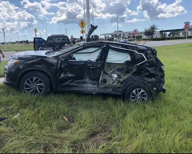 A North Fort Myers man suffered serious injuries Monday in a two-vehicle crash along Burnt Store Road North in Cape Coral.