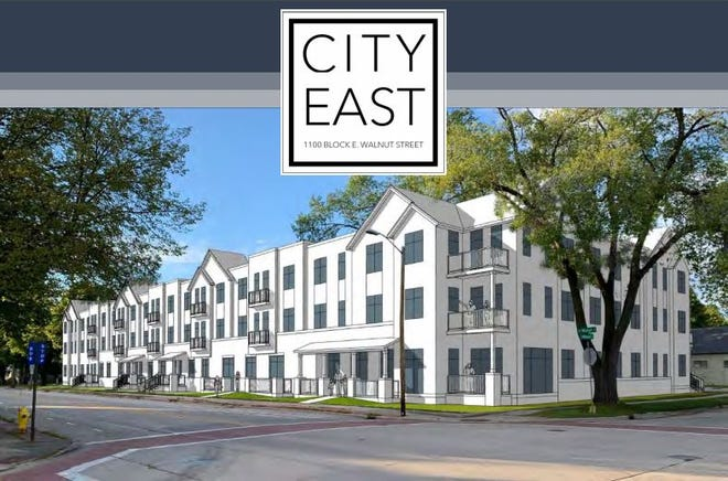 Appleton-based MF Housing Development has proposed a 43-unit apartment building in the 1100 block of East Walnut Street. The company plans to pursue state tax credits to help fund the project, which would set aside 84% of the units for families earning less than 60% of the area's median income.