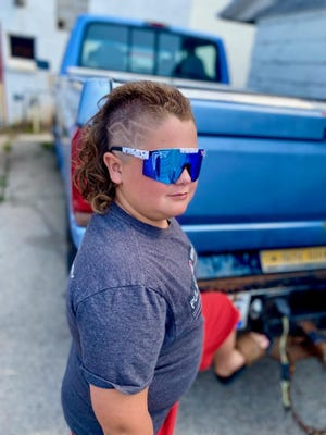Pulaski's JD Sterckx, 10, has made it all the way to the 25 finalists in the USA Mullet Championships 2021 Kids Division. He finished sixth.