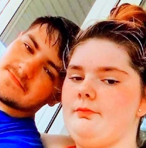 Hannah Dixon, on the right, walked out of school Monday with her boyfriend, Nathan Thacker, on the left. Lafayette police issued a Silver Alert for Dixon on Tuesday morning because of a pre-existing medical condition. Anyone with information about her location should call police at 765-807-1200.