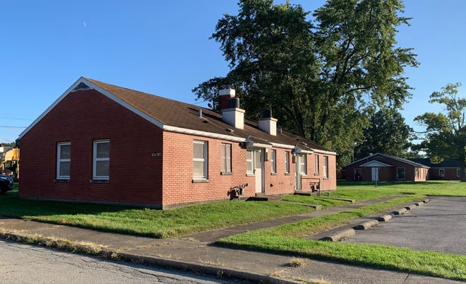 Here is one of several barracks-style apartments in New Albany's Beechwood apartments that city officials are planning to tear down in a redevelopment project. Oct. 12, 2021