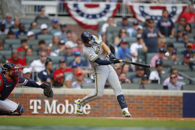 Willy Adames, who managed four hits in the first three games of the NLDS, says it's a credit to the Braves pitchers the Brewers are  struggling at the plate.