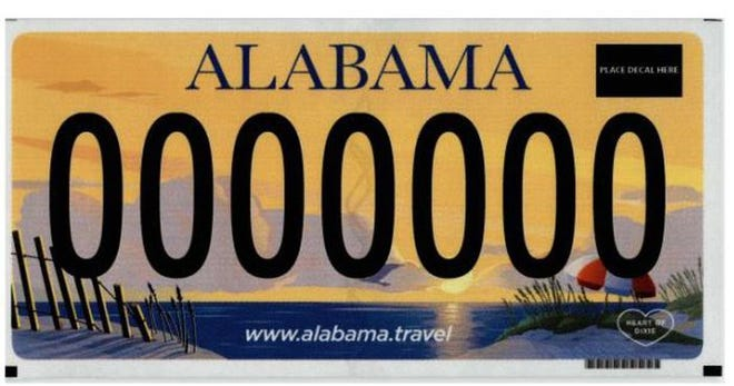 The new Alabama license plate beach design will be available in 2022.