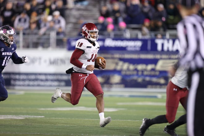 New Mexico State quarterback Jonah Johnson passed for over 400 yards with three touchdowns at Nevada on Saturday. Johnson was also sacked six times in the Aggies road loss.