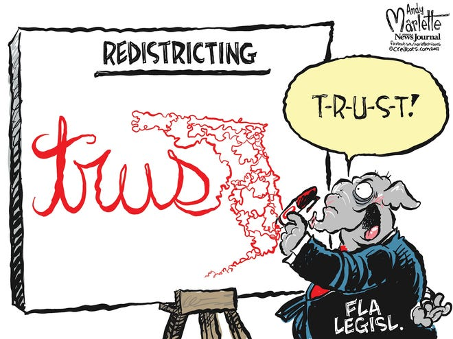 Marlette cartoon: Shady history for Sunshine State redistricting