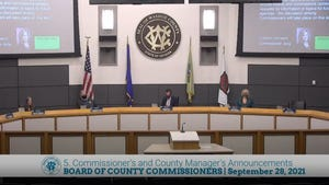 Washoe County Commissioners meet on Sept. 28.