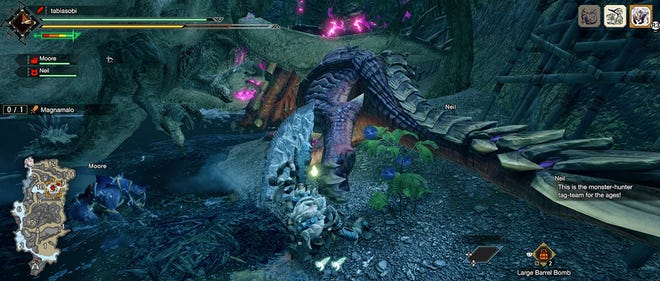 A screenshot of Monster Hunter Rise from the PC demo.