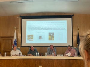 """The Washington County Planning Commission discusses the """"Above Zion"""" glamping development proposal on Oct. 12, 2021."""
