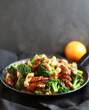 The secret to this Chicken and Broccoli Stir Fry is a tasty  sauce made with hoisin.
