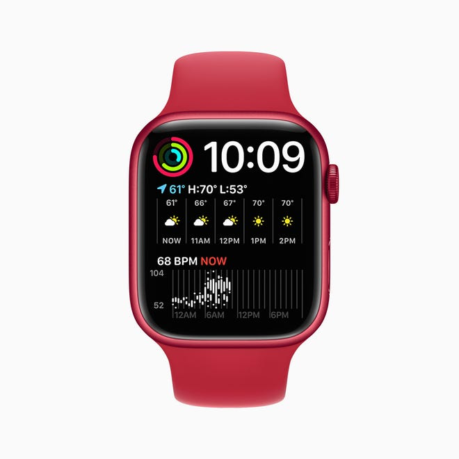 One of the new watches available in the Apple Watch Series 7 is the Modular Duo Face, which is a one-time data center that measures time and temperature, weather forecast, market trends, your activity and heart rate. may include other indicators.