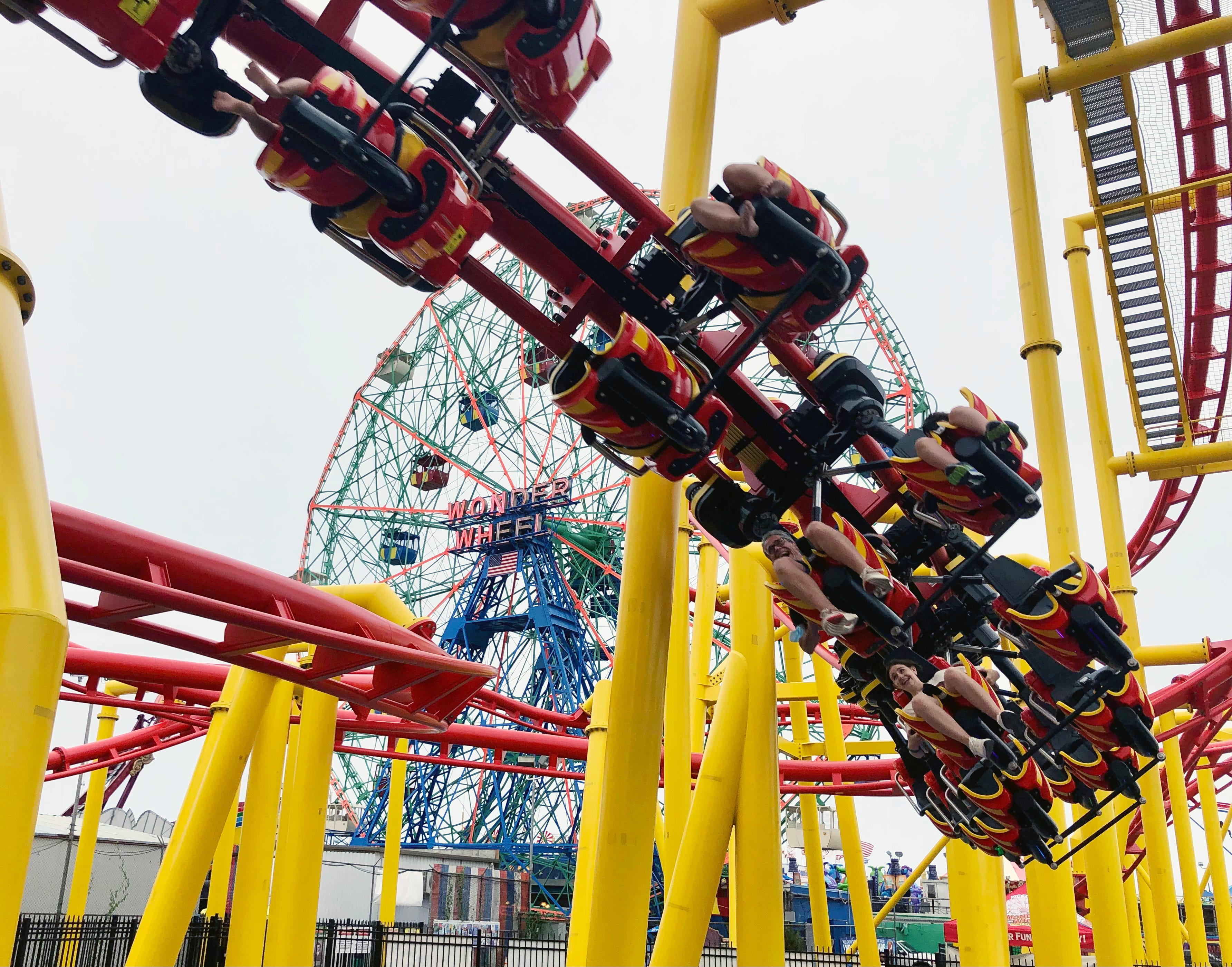 Thrill of a lifetime : This roller coaster fan got the chance to operate a ride