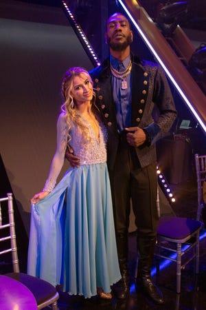 "Daniella Karagach and Iman Shumpert after dancing to ""Frozen."""