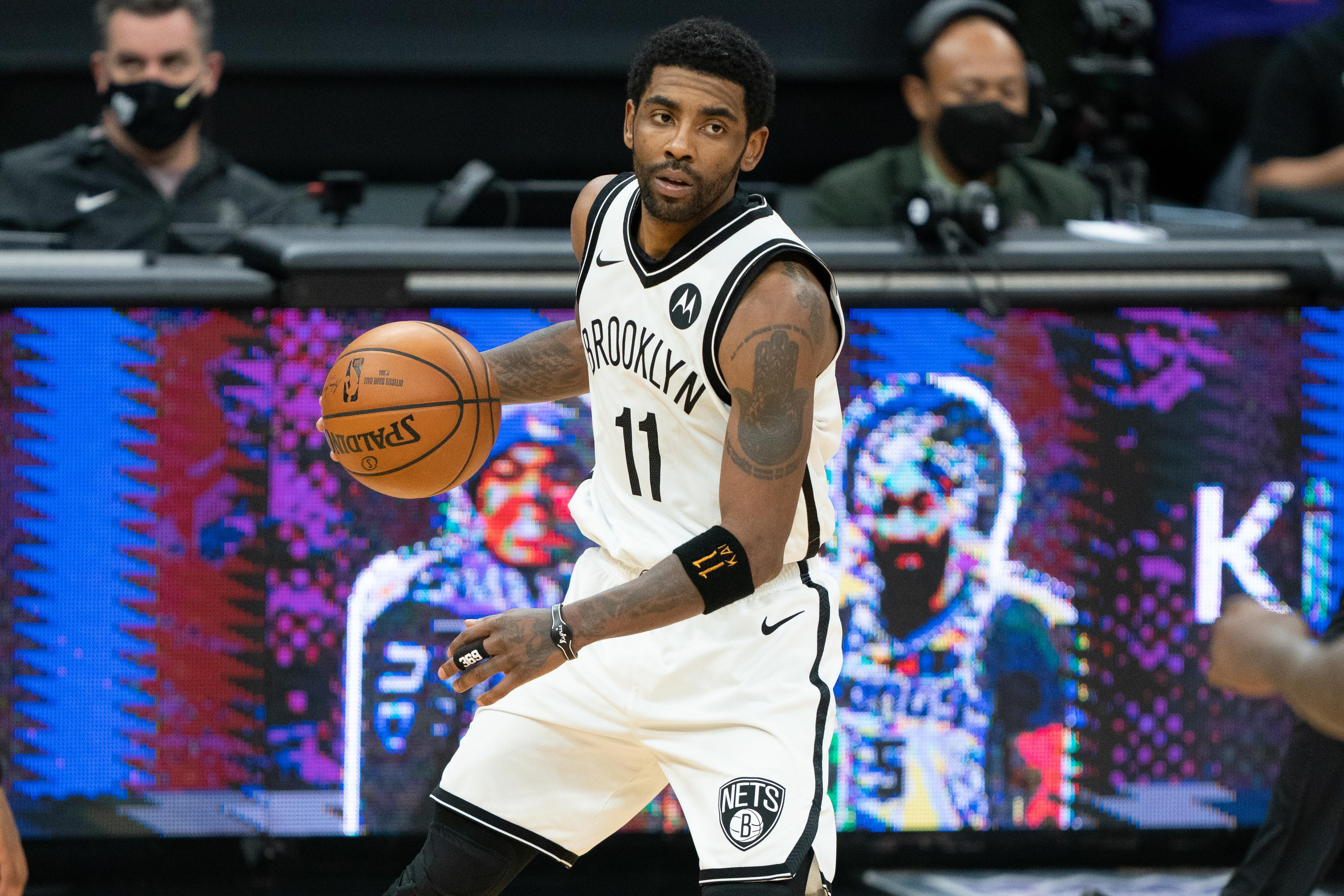 Nets ban Kyrie Irving from team activities  until he is eligible to be a full participant