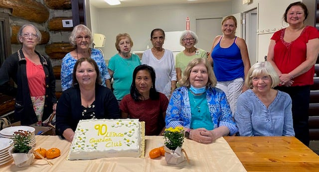 Members of Alliance Garden Club were on hand in early September for a party to celebrate the group's 90th anniversary.