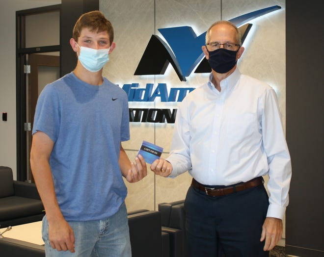 The September Technical Student of the Month at Canton High School is Joseph Murphy pictured left.