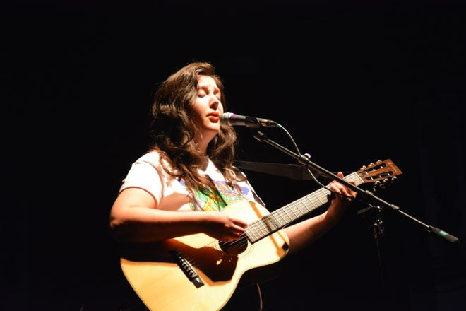 Lucy Dacus performs at the Newport Music Hall on Oct. 12, 2021.