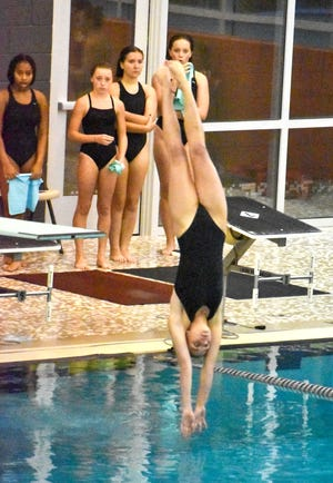 Coldwater's Charlotte Calhoun picked up yet another on the 1-meter Dive Tuesday.