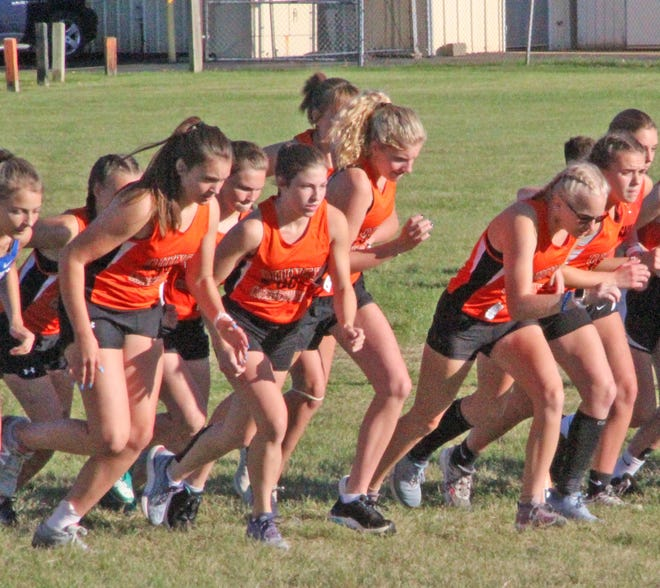 The Quincy Lady Orioles, shown here during the Homer Jamboree, took runner-up honors at Tuesday's Big 8 Jamboree held in Jonesville