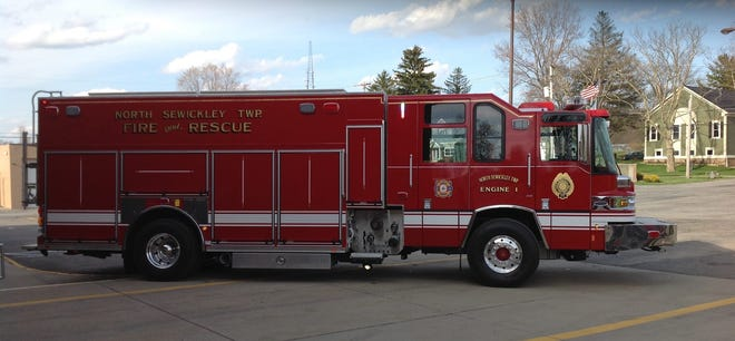 North Sewickley Township fire department trucks.