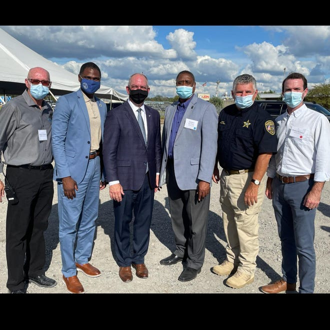Gov. John Bel Edwards was among the officials at the ceremony at REG Geismar.