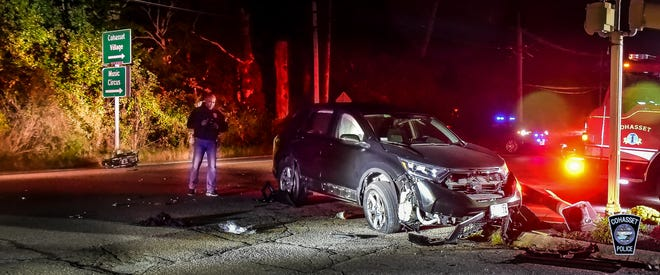 A Scituate man was seriously injured in a Cohasset crash.