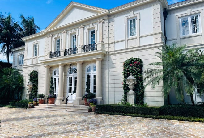 In an internal deed transfer, newlyweds Perri B. and Robert J. Bishop took possession in their names of their home at 201 El Vedado via a transaction recorded at $6.94 million. The house changed hands last year for a recorded $20.75 million in an off-market sale.