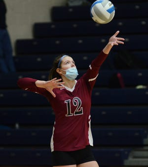 Taylor Petrosky and other Rayder seniors picked up a three-set victory on senior night in Charlevoix.